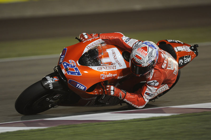 Casey Stoner, qualifiche GP Qatar, MotoGP 2010