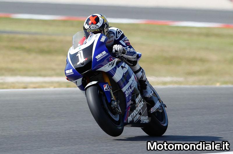 Jorge Lorenzo, Yamaha, è il più veloce nelle FP2 di Misano nella Moto GP
