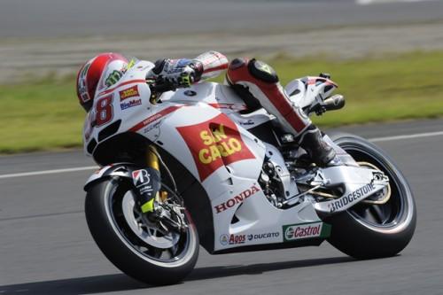 Marco Simoncelli al primo giorno di libere sul circuito di Motegi (Moto GP 2012)