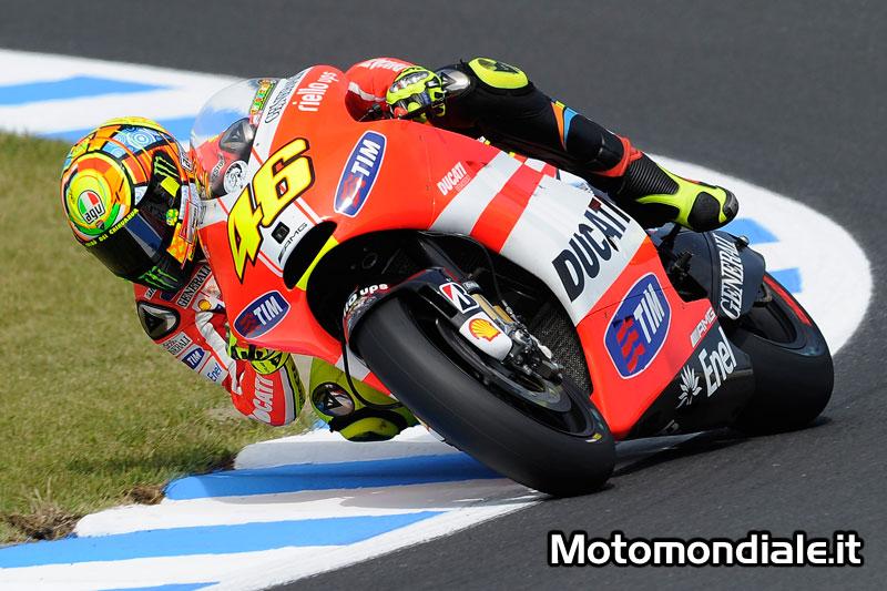 Per Valentino Rossi e la sua Ducati solo un ottavo tempo nella prima giornata di prove libere a Motegi