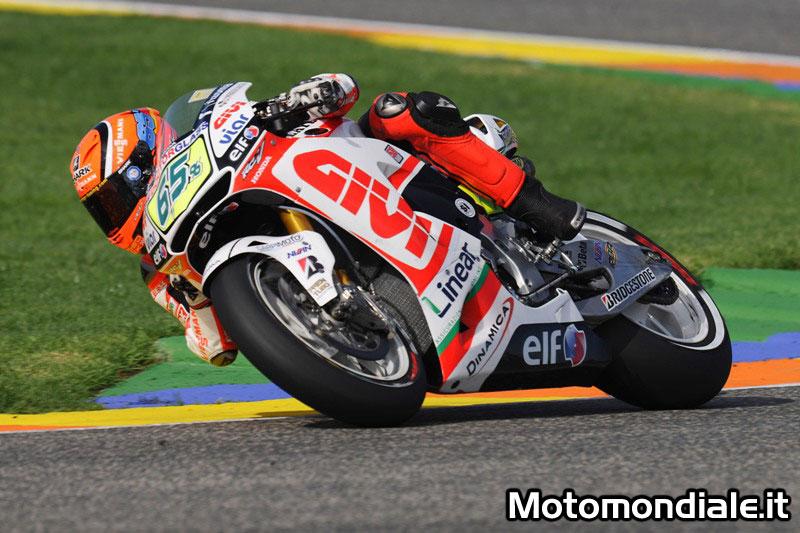 Stefan Bradl in sella alla LCR Honda nei test di Valencia