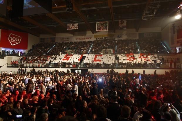 Il 105 Stadium di Rimini gremito per festeggiare il Sic