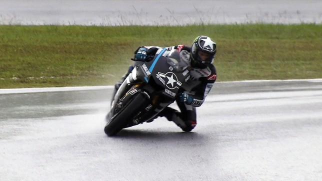 Ben Spies, il pilota Yamaha ha siglato il miglior tempo nei test di oggi