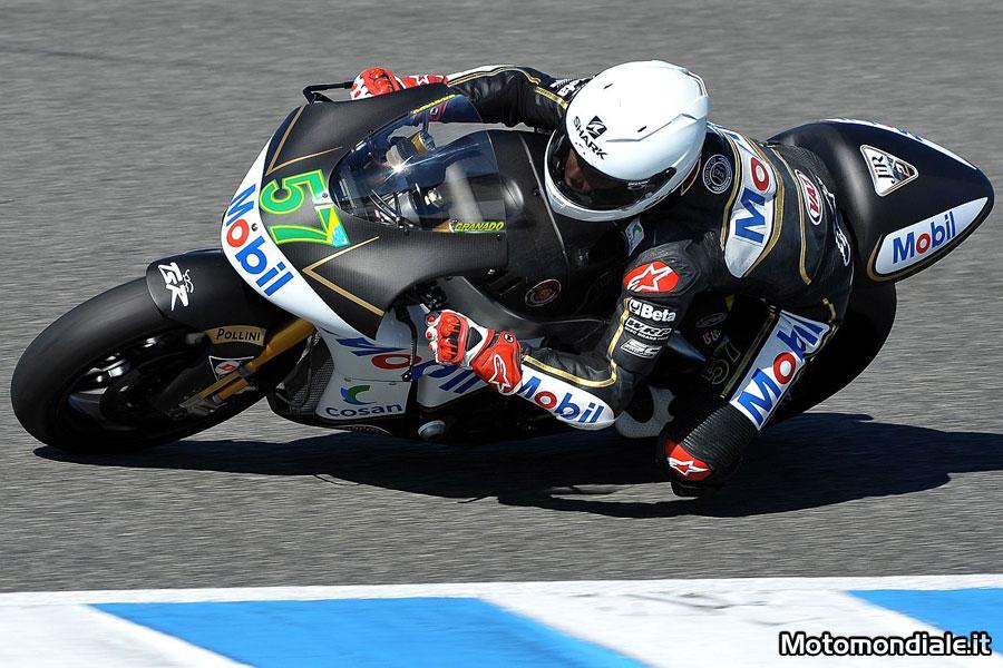 Eric Granado, JiR Racing Moto 2, ai test di Jerez