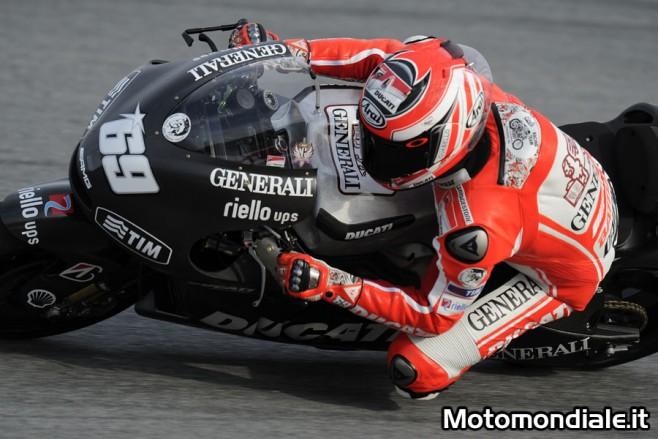Nicky Hayden sulla Ducati GP12 durante i test di Sepang