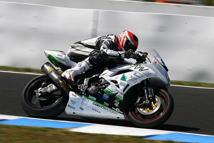 Joshua Day del team Kawasaki Go Eleven, a Phillip Island per la categoria Supersport