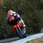 Mike di Meglio, pilota del team Speed Master, durante i test di Jerez (Moto2)
