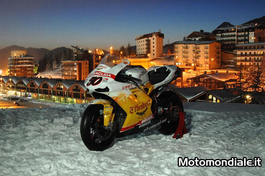 La Ducati 1199 Panigale del Team Effenbert Liberty Racing per il 2012 presentata al Sestriere