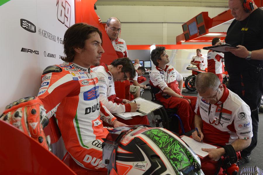 Nicky Hayden, Ducati, il pià veloce di questa seconda giornata di test in Andalusia