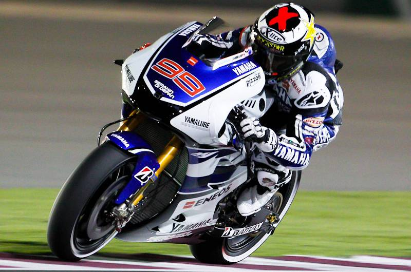 Jorge Lorenzo in action, FP3 Losail International Circuit MotoGP 2012