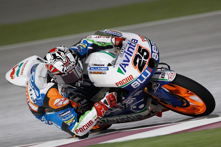 Maverick Viñales, Blusens Avintia, il più veloce delle FP1 in Moto3