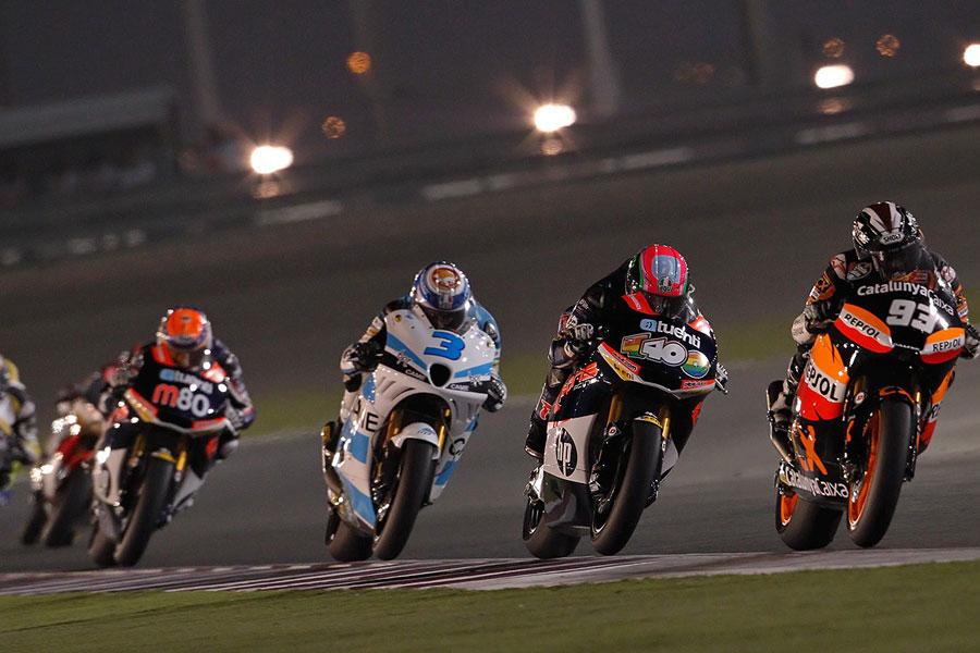 Moto2, una fase della gara a Doha
