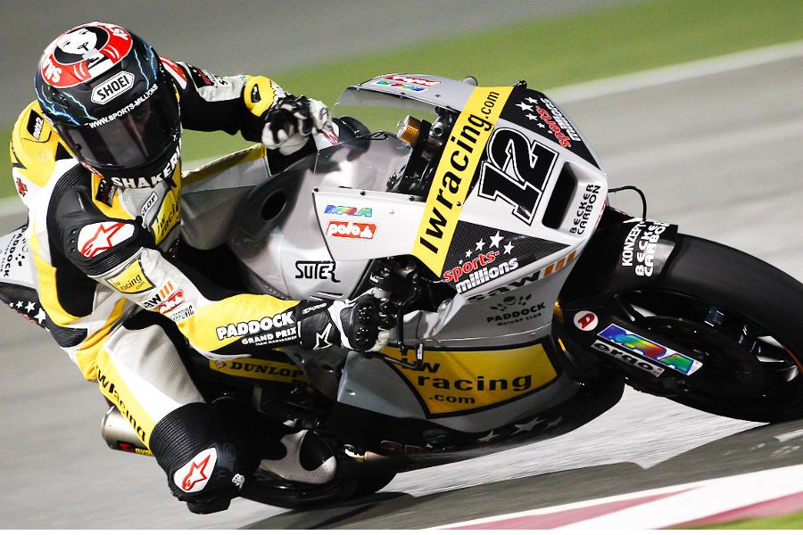 Thomas Luthi, pole position in Qatar (Moto2 2012)