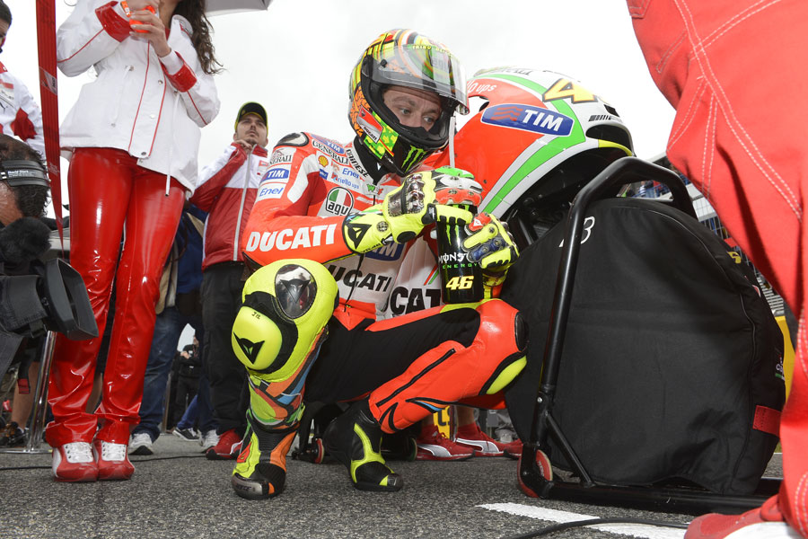 Valentino Rossi prima della gara a Jerez