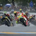 Bagarre Dovizioso, Rossi e Crutchlow a Le Mans