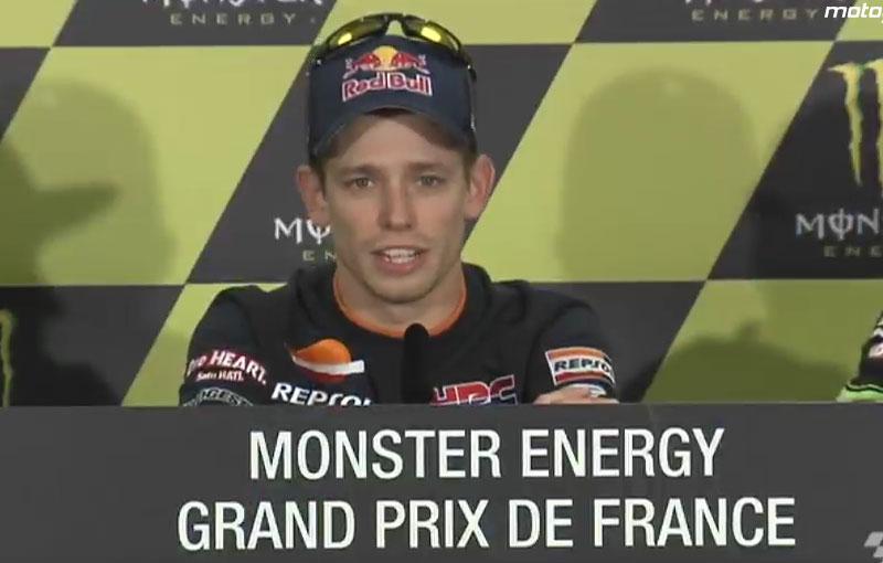 Casey Stoner annuncia in sala stampa a Le Mans il suo ritiro (17 maggio 2012)
