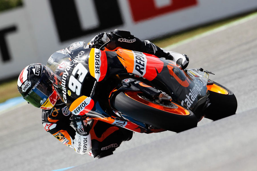 Marc Marquez in pole all'Estoril (Moto2)