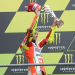 Rossi su podio di Le Mans - MotoGP 2012