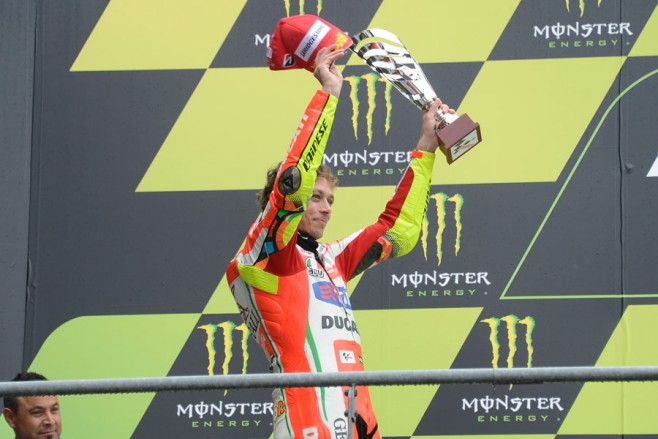 Rossi su podio di Le Mans – MotoGP 2012