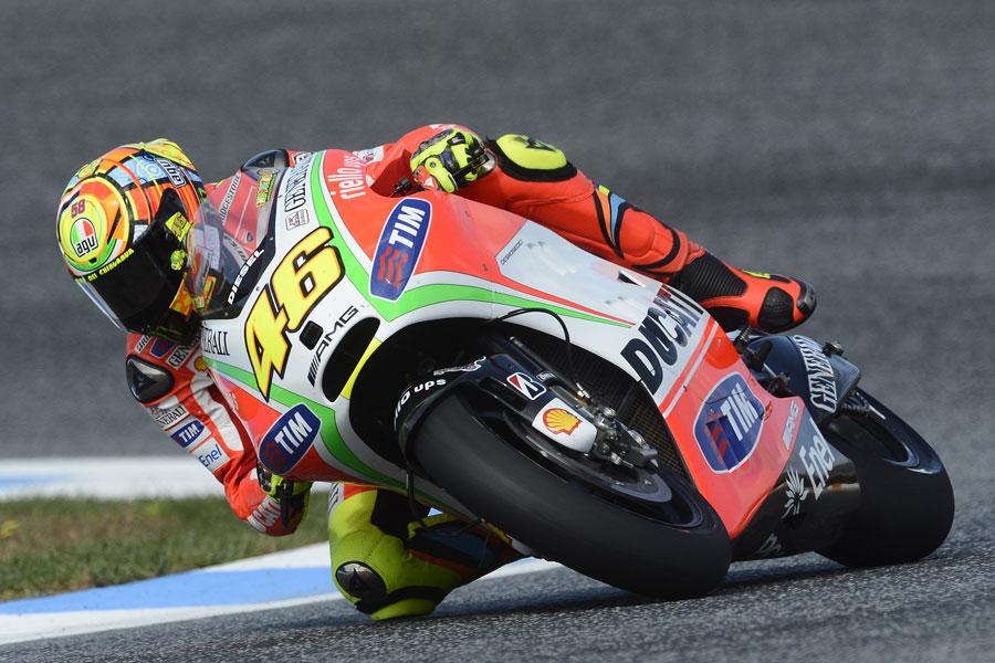 Valentino Rossi Ducati, 9° tempo in qualifica all'Estoril