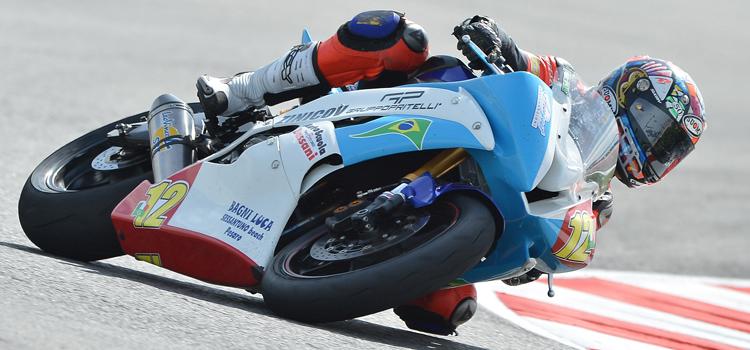 Franco Morbidelli (Bike Service R.T.), pole position a Misano - Superstock 600, 2012