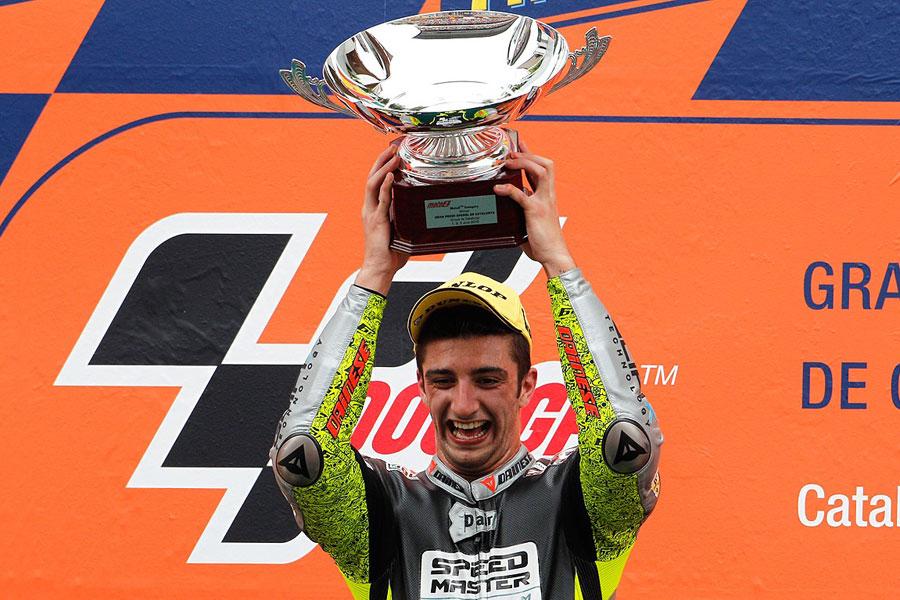 Andrea Iannone (Speed Master) - Moto2 2012, sul podio in Catalogna