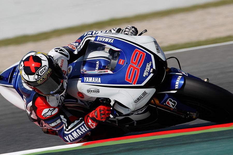 Jorge Lorenzo, Yamaha, Leader in Catalunya FP2 (MotoGP 2012)