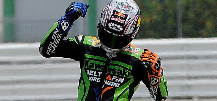 Kenan Sofuoglu (Kawasaki DeltaFin Lorenzini), wins in Misano - Supersport 2012