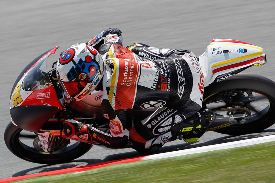 Louis Rossi (Racing Team Germany) leader in Catalunya FP2 (Moto3 2012)