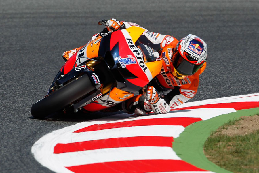 Casey Stoner (Repsol Honda), pole position in Catalunya - MotoGP 2012