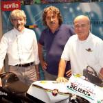 Luigi Dall'Igna e Aligi Deganello insieme a Paolo Simoncelli (al centro)