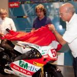 Luigi Dall'Igna e Aligi Deganello insieme a Paolo Simoncelli, svelano la 58 del titolo 2008