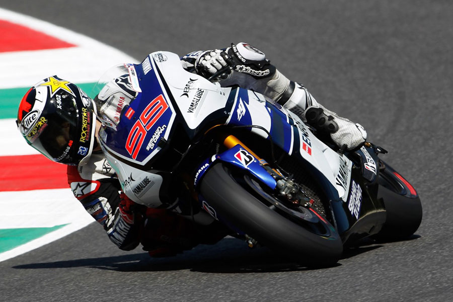Jorge Lorenzo (Yamaha) nei test al Mugello, MotoGP 2012