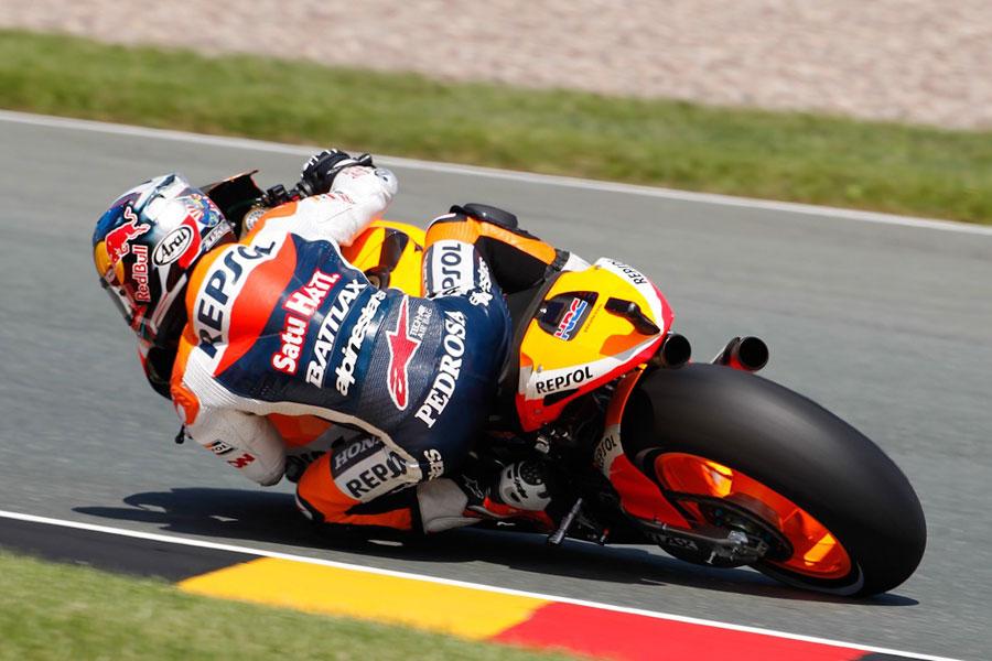 Dani Pedrosa (Repsol Honda), vince al Sachsenring e sorpassa in classifica Stoner (MotoGP 2012)