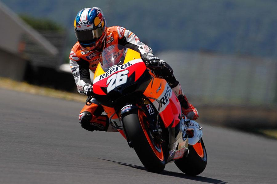 Dani Pedrosa durante i test al Mugello - MotoGP 2012