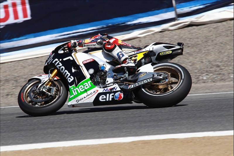 Stafan Bradl (LCR Honda) sul tracciato di Laguna Seca - MotoGP 2012