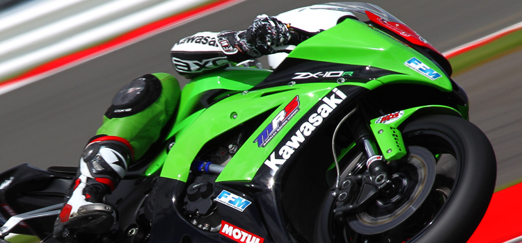 Jeremy Guarnoni (MRS Kawasaki), pole provvisoria nelle Q1 di Silverstone (Superstock 1000 - 2012)