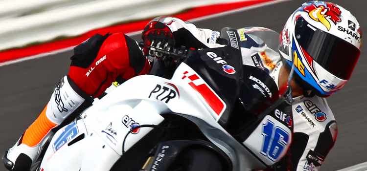Jules Cluzel (PTR Honda), pole provvisoria a Silverstone (Supersport 2012)