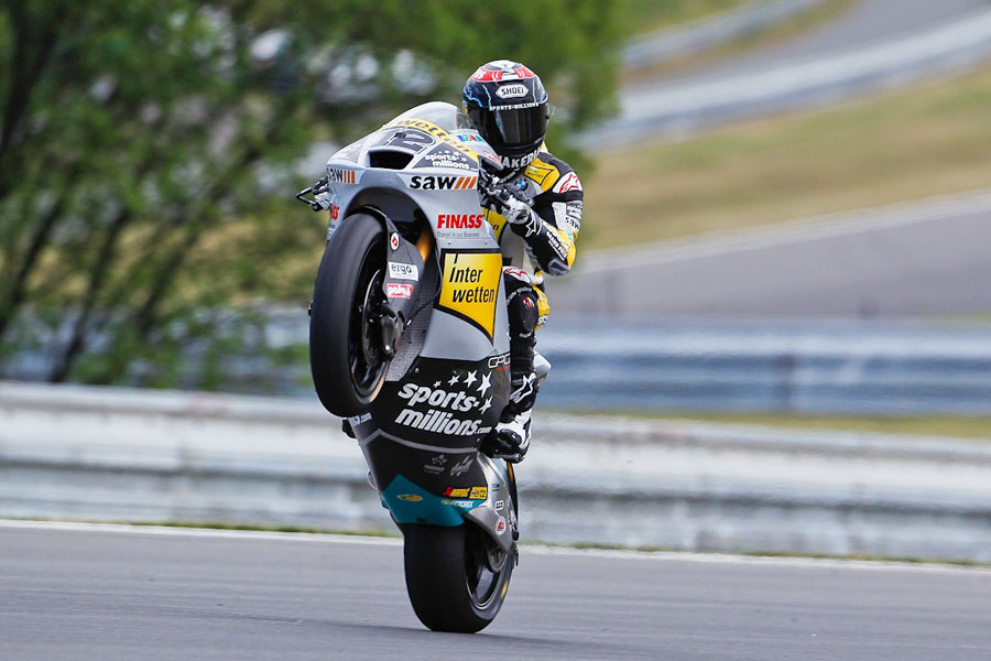 Thomas Luthi (Interwetten-Paddock), leader delle FP2 a Brno - Moto2 2012