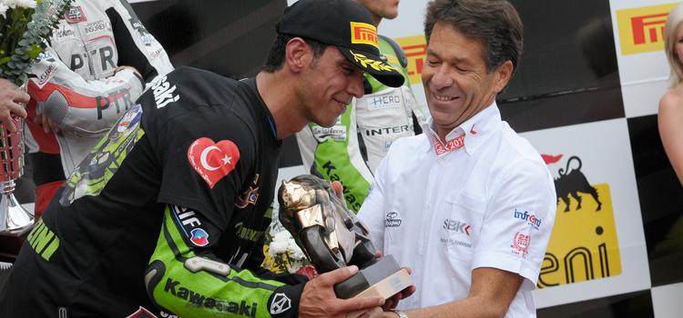 Kenan Sofuoglu (Kawasaki Lorenzini), Supersport 2012 World Champion