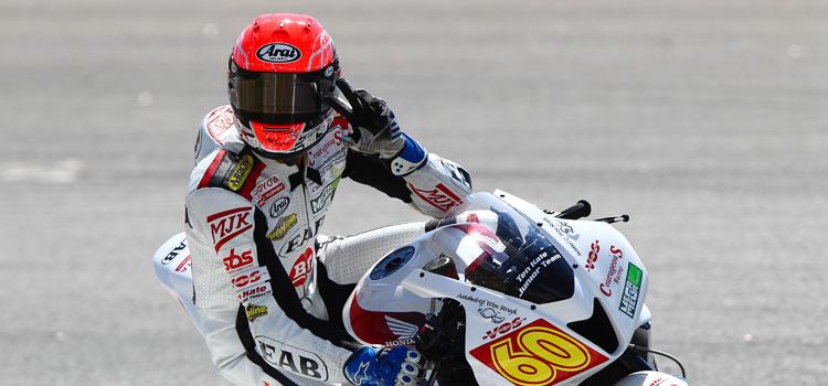 Michael van der Mark (EAB Ten Kate Junior Team), poleman a Portimao - Superstock 600 2012