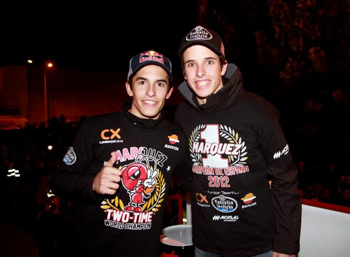 Festa Marc Marquez e Alex Marquez