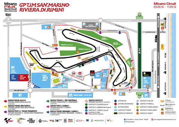 Circuito Misano Simoncelli : Motogp misano orari e programmazione tv