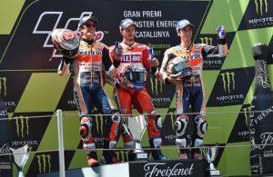 Podio MotoGP gran premio Catalogna 2017