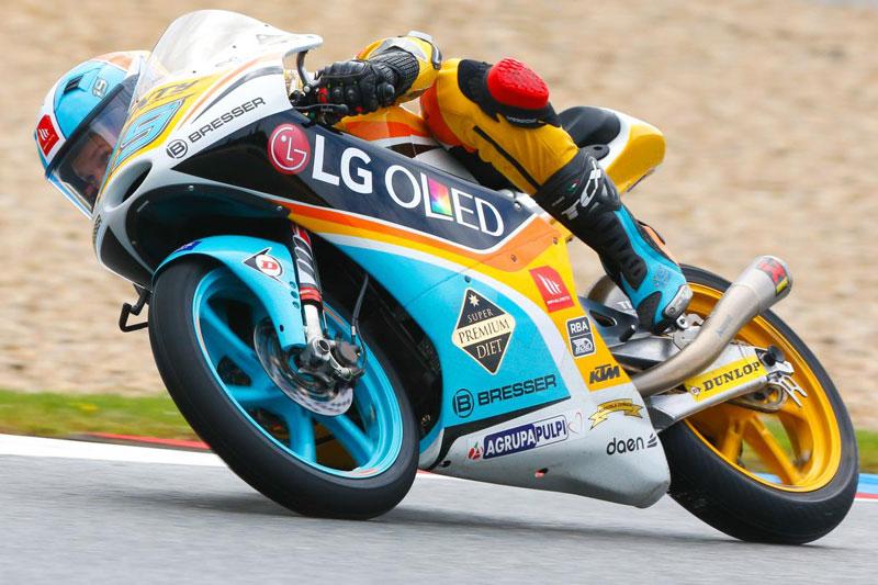 Gabriel Rodrigo pole Moto3 Brno 2017
