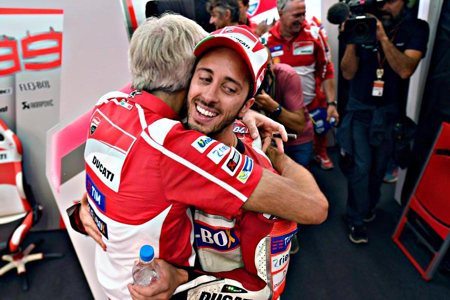 MotoGP Dovizioso vittoria Ducati